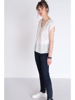 Jeans slim poches fantaisie denim brut femme