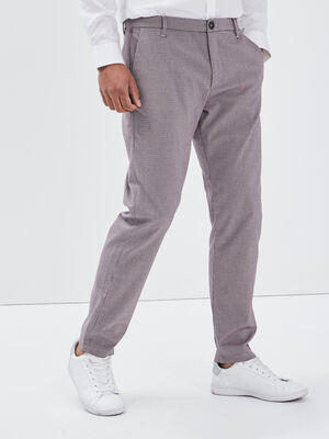 Pantalon city violet fonce homme