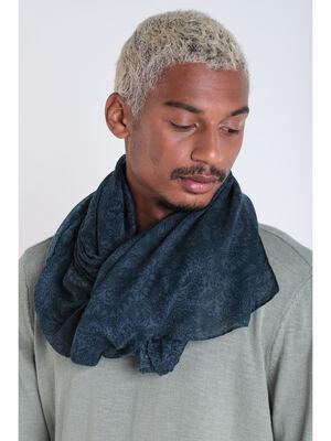 Foulard bleu fonce homme