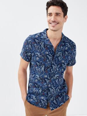 Chemise manches courtes bleu homme