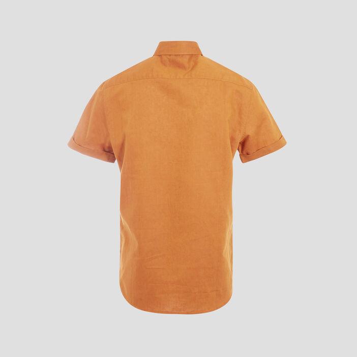 Chemise éco-responsable jaune moutarde homme