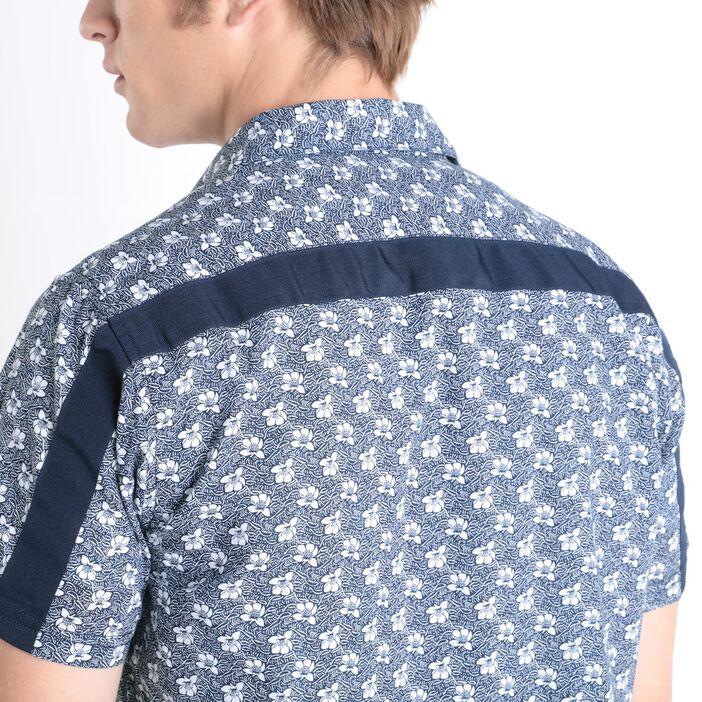 Chemise manches courtes bleu marine homme