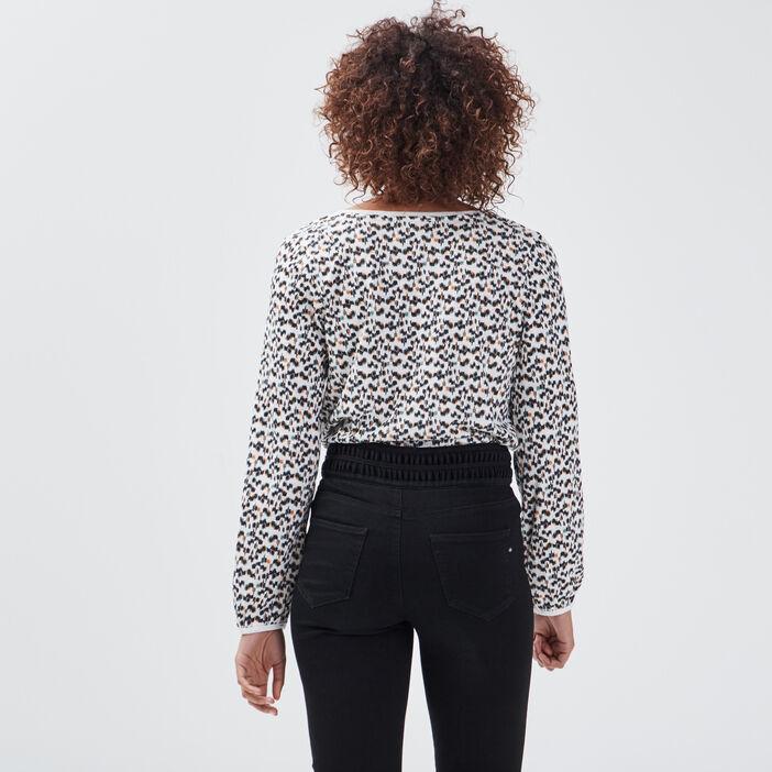 T-shirt éco-responsable ecru femme