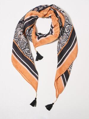 Foulard noir femme