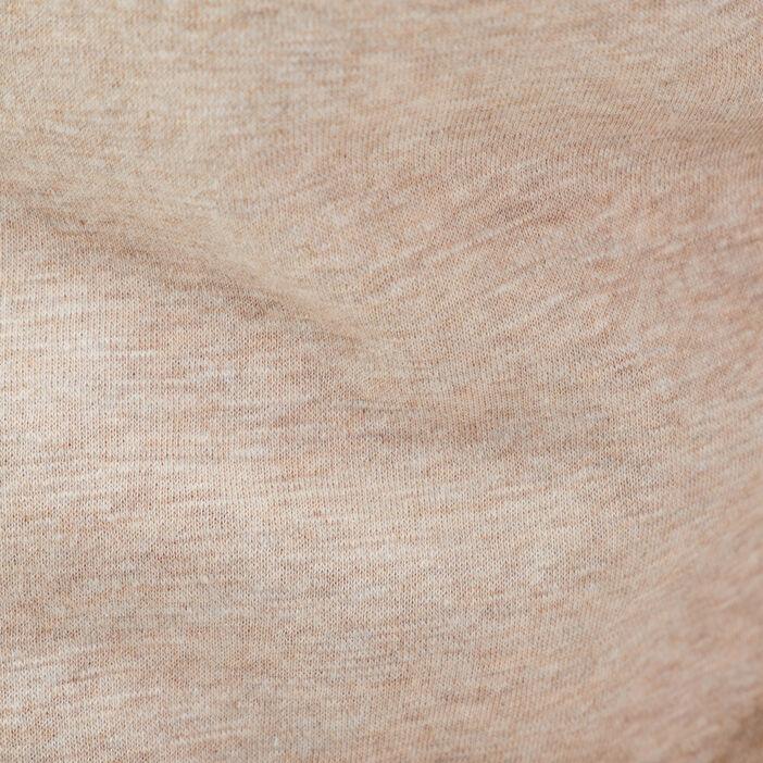 Sweat manches longues zippé ecru homme