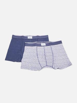 Lot 2 boxers bleu fonce homme