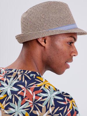 Chapeau detail bande sable homme