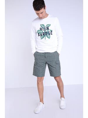 Bermuda droit taille standard vert kaki homme