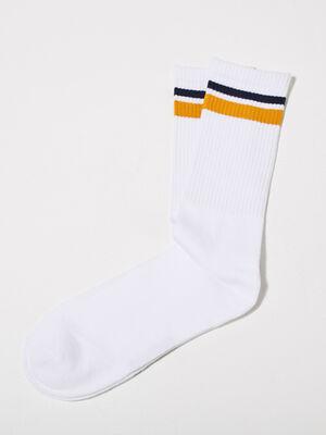Chaussettes de sport blanc homme
