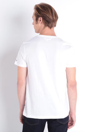 T shirt manches courtes blanc homme