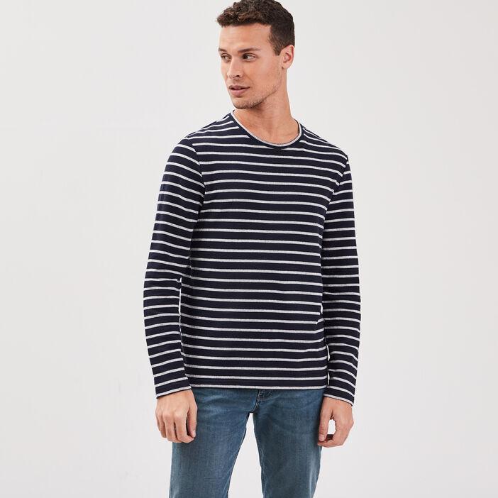 T-shirt Instinct col rond bleu foncé homme