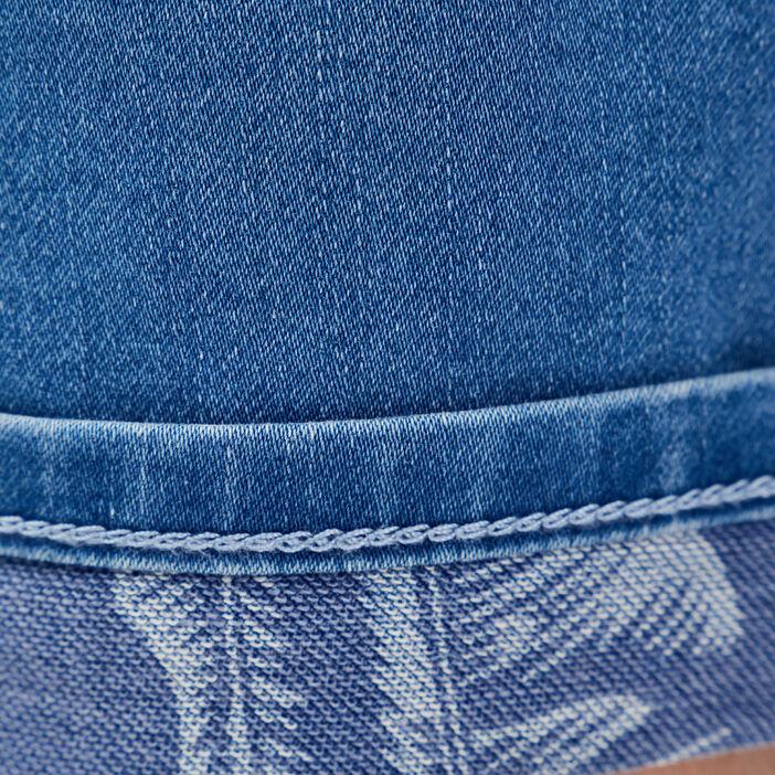 Bermuda slim en jean denim stone homme