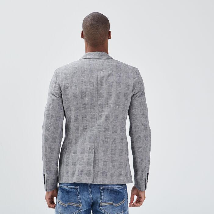 Veste droite éco-responsable gris homme