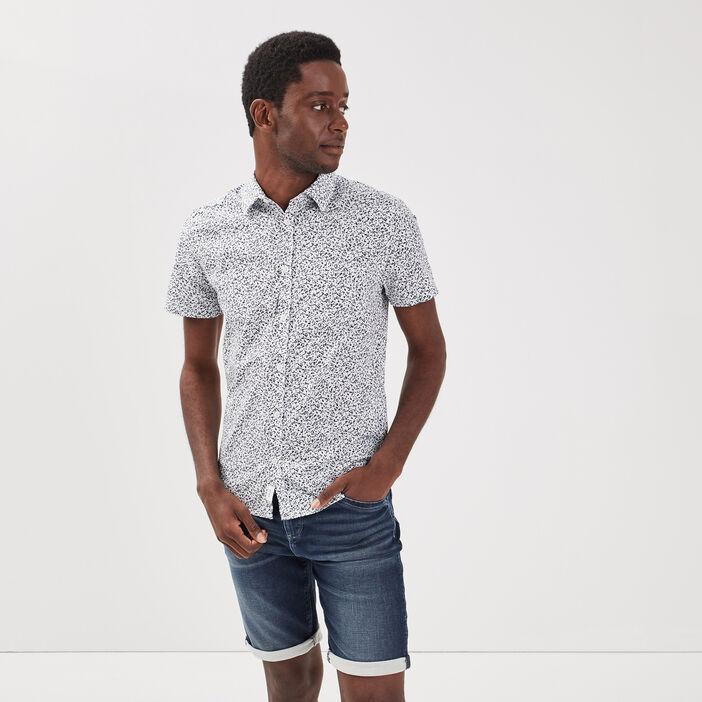 Chemise manches courtes blanc homme