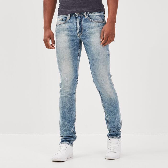 Jeans slim effet dirty denim dirty homme