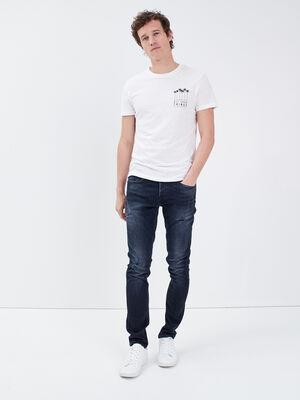 Jeans slim denim blue black homme