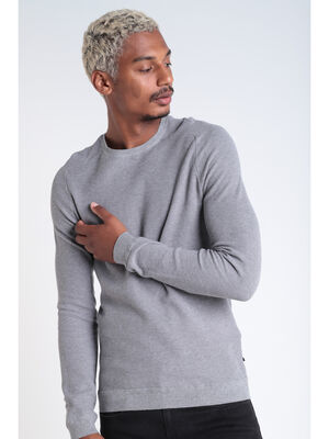 Pull Instinct manches longues gris fonce homme