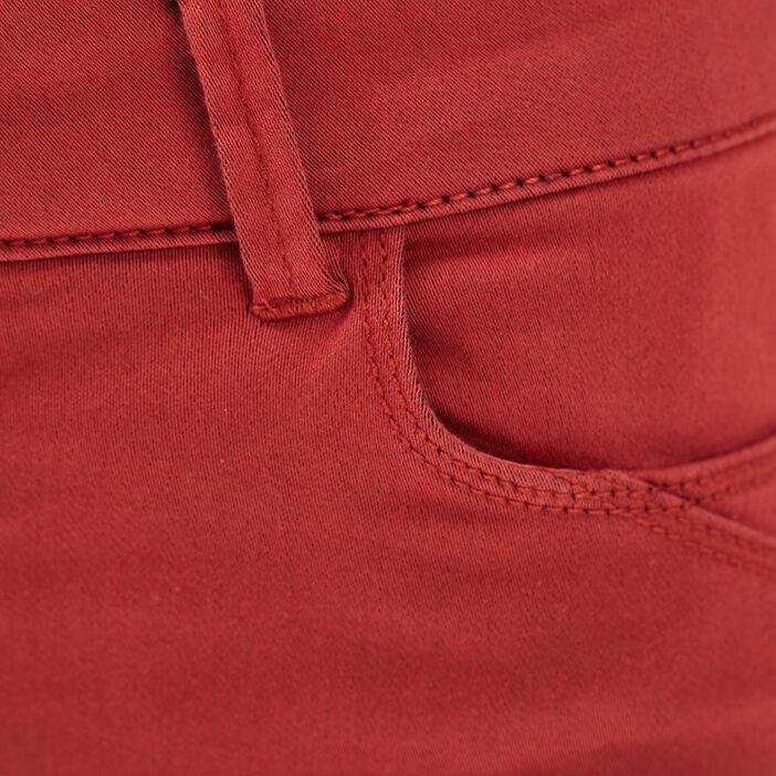 Pantalon skinny push up orange foncé femme