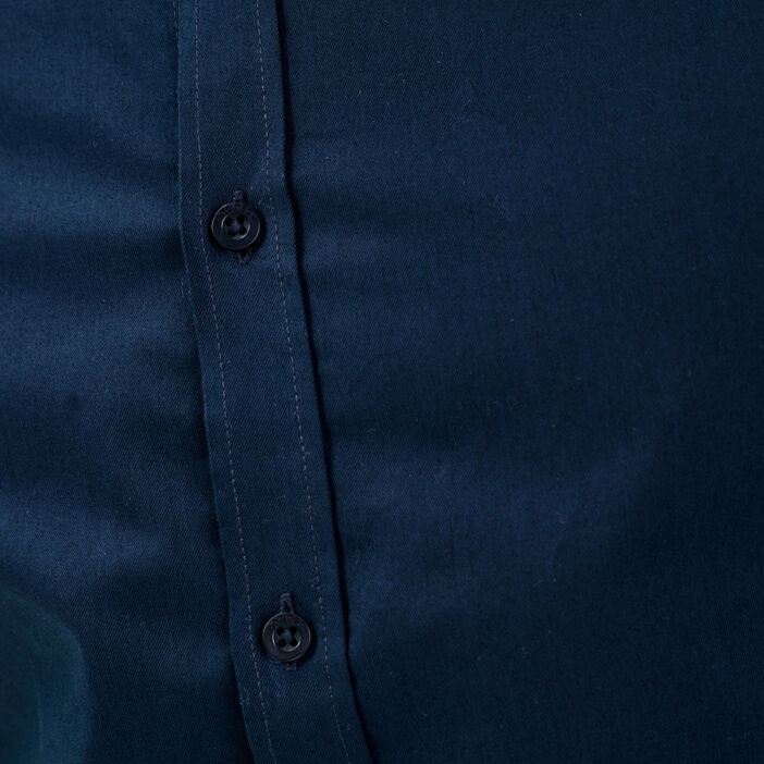 Chemise éco-responsable bleu marine homme