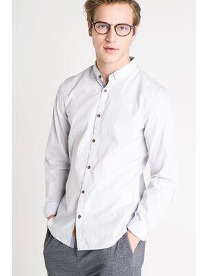 chemise droite homme fines rayures bleu lavande