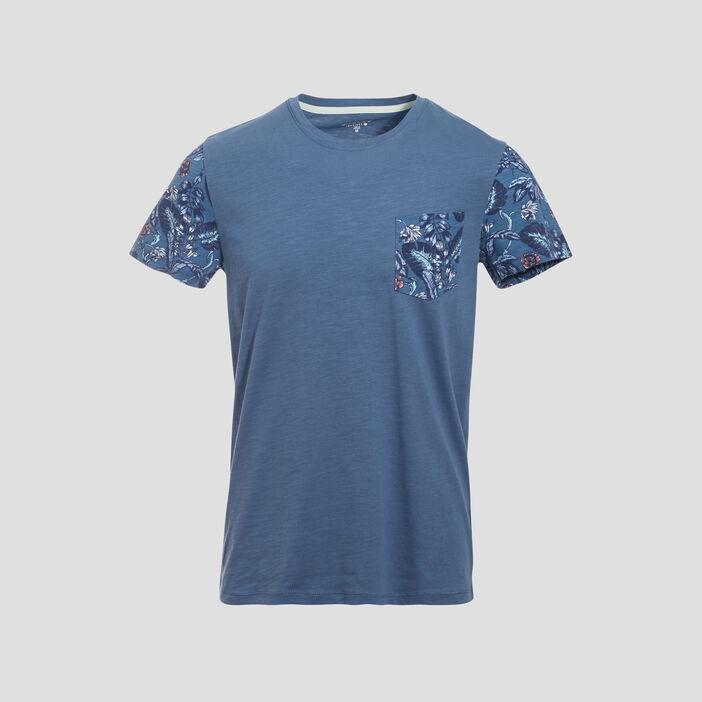 T-shirt éco-responsable bleu homme