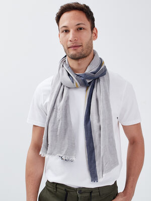 Foulard gris fonce homme