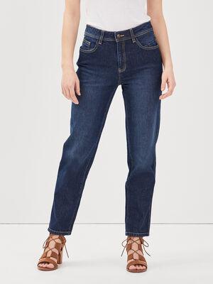 Jeans straight denim brut femme