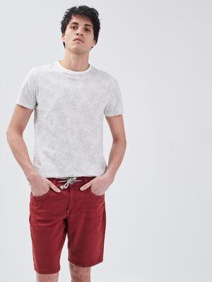 Bermuda droit 5 poches rouge fonce homme