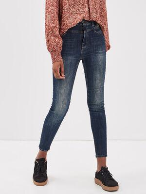 Jeans Brigitte  skinny taille haute denim brut femme