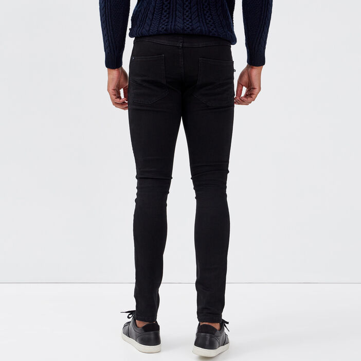 Jeans skinny effet used noir homme