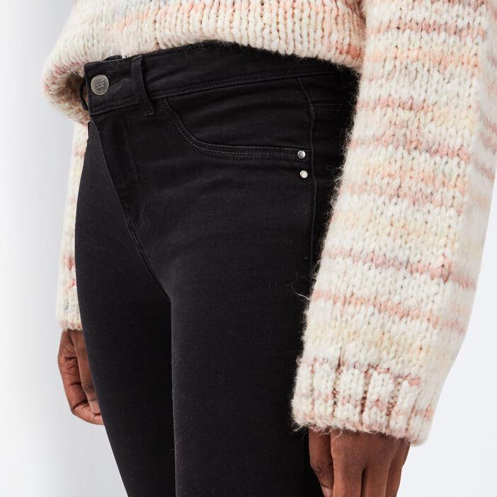 Jeans jegging skinny en coton bio denim noir femme