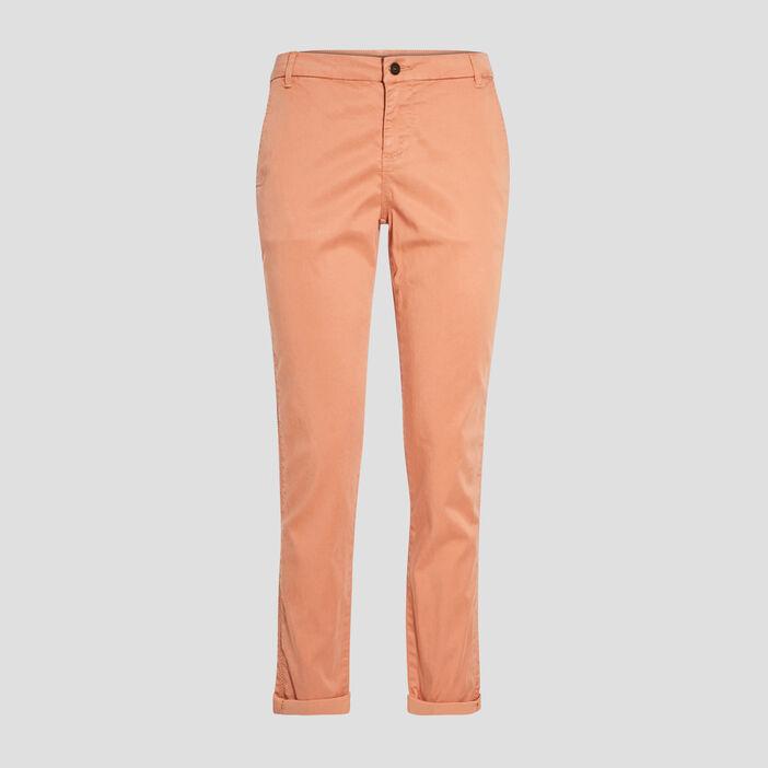 Pantalon chino Instinct terracotta femme