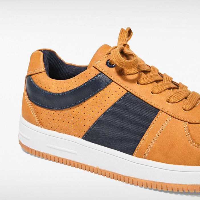 Baskets plates jaune moutarde homme