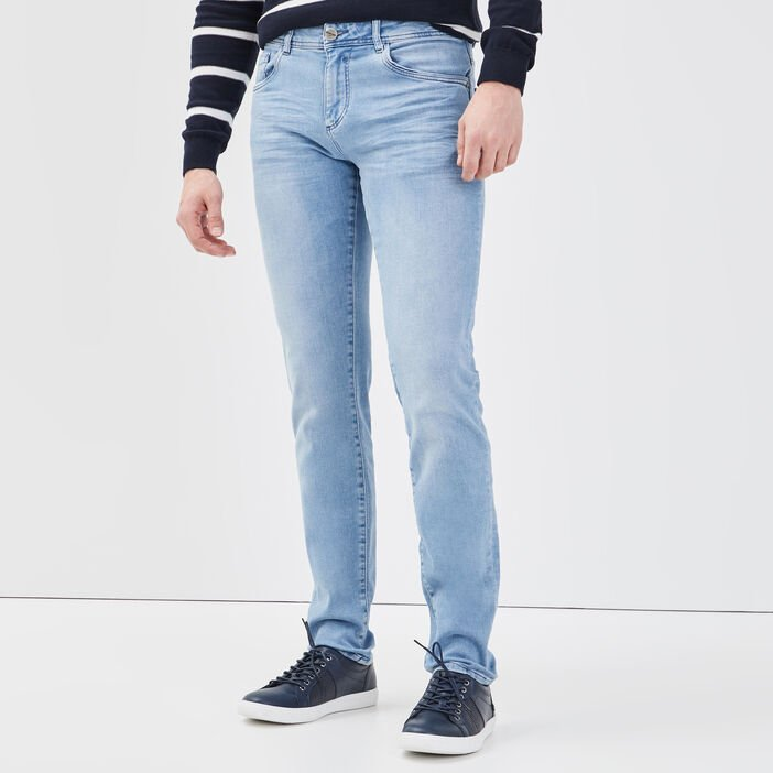 Jeans slim ultra stretch denim bleach homme