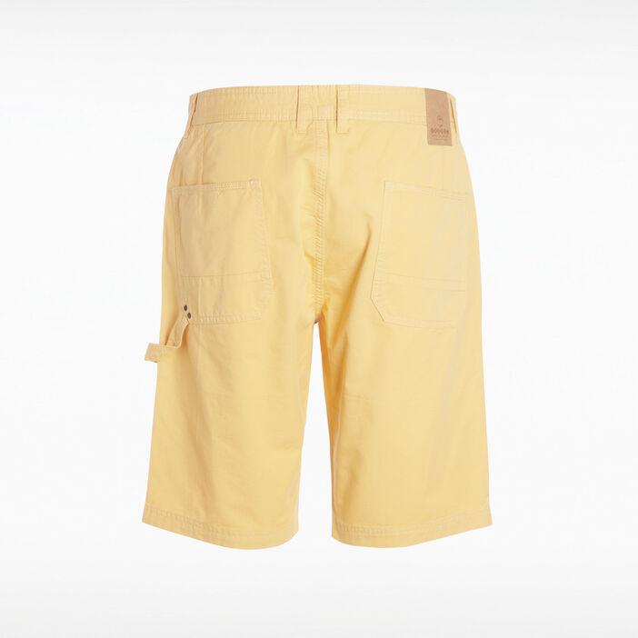 Bermuda droit à 4 poches jaune moutarde homme