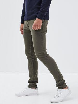 Jeans skinny vert kaki homme