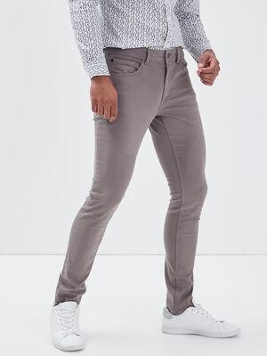 Jeans skinny gris fonce homme