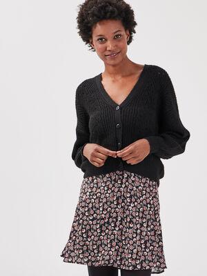 Gilet eco responsable noir femme