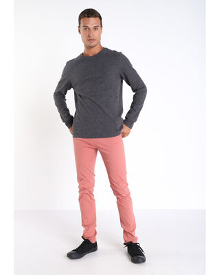 Pantalon slim Instinct chino rose homme