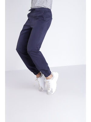 Pantalon toile bleu fonce homme