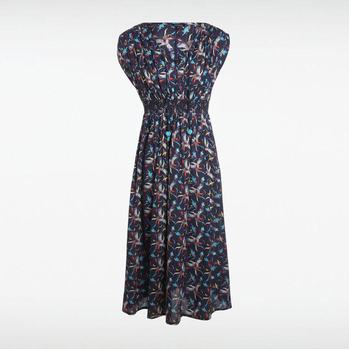 le plus fiable expédition gratuite Promotion de ventes Robe longue bleu marine femme | Vib's