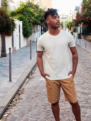 T shirt manches courtes vert kaki homme