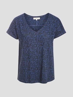 T shirt eco responsable bleu marine femme