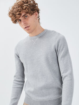 Pull eco responsable gris fonce homme