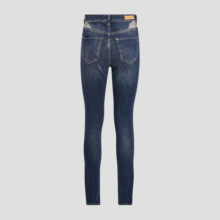 Jeans skinny taille haute denim brut femme