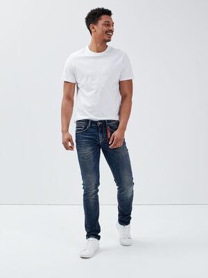 Jeans slim avec porte cles denim dirty homme
