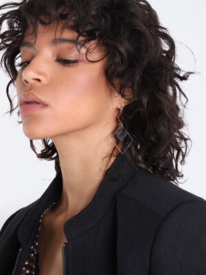 Boucles doreilles pendantes couleur cuivre femme