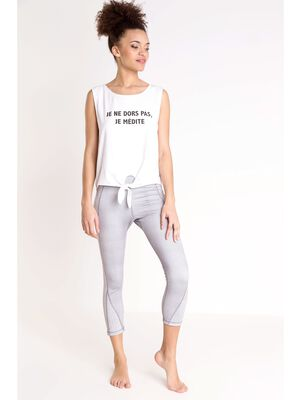 legging de yoga femme instinct gris clair