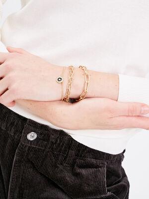 Lot 3 bracelets chaines couleur or femme