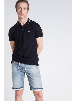 bermuda coupe droite homme effet used denim used
